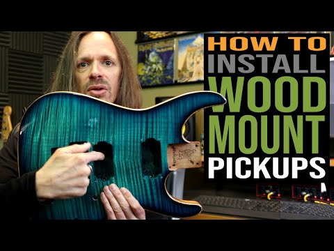 How to Install Wood Mount Pickups