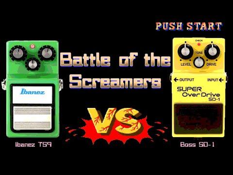 Ibanez TS9 Tube Screamer vs Boss SD-1 Super Overdrive - Battle of the Screamers