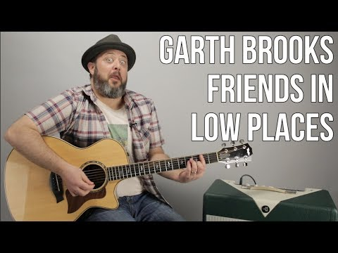 """How To Play """"Friends in Low Places"""" on Guitar - Garth Brooks"""