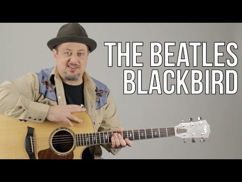 The Beatles Blackbird Acoustic Guitar Lesson + Tutorial