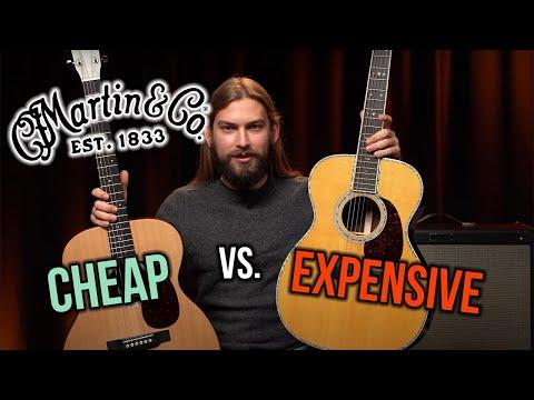 Expensive vs. Cheap Martin Acoustic Guitars   000-X1 vs. 000-42