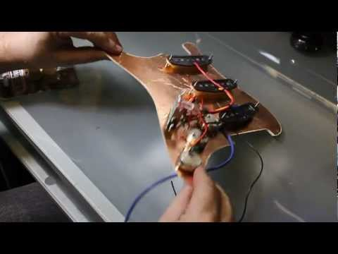 Wiring a Fender Stratocaster (how to wire an electric guitar, a Strat)