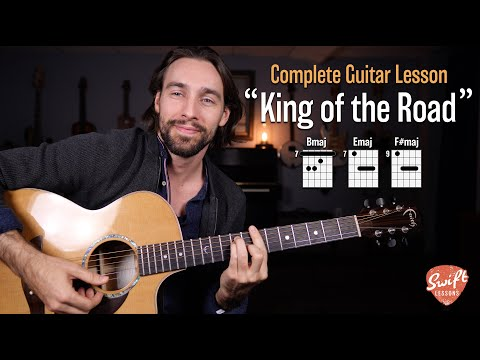 """""""King of the Road"""" Guitar Lesson - Roger Miller - Easy 3 Chord Song!"""