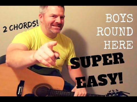 Boys Round Here - Blake Shelton (Super Easy!) Guitar Lesson