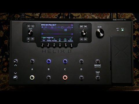 Line 6 Helix LT Guitar Processor Demo