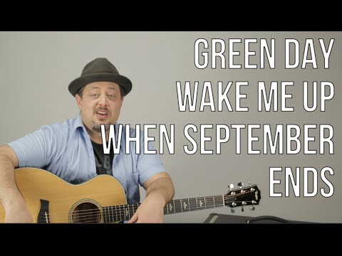 Green Day - Wake Me Up When September Ends - Guitar Lesson - How to Play - Acoustic Songs