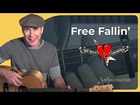 How to play Free Falling by Tom Petty Guitar Lesson Tutorial Acoustic Capo