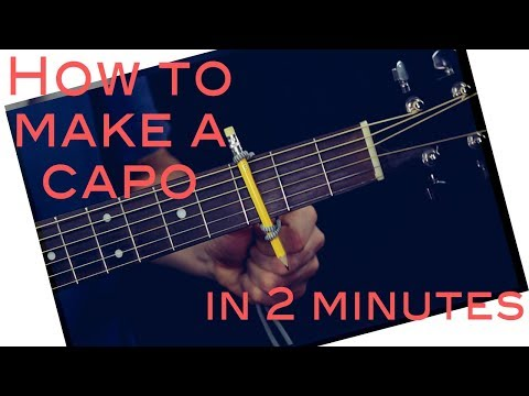 How to Make a Capo for your guitar in 2 minutes / DIY CAPO (Very easy)