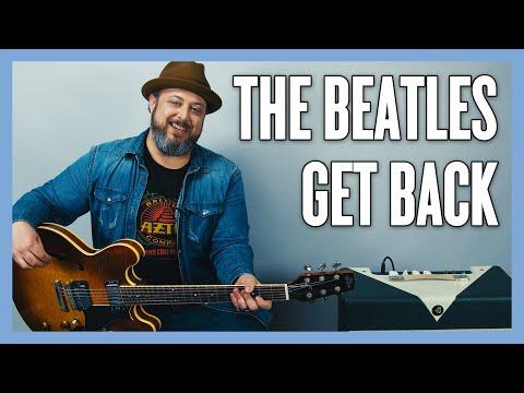 Beatles Get Back Guitar Lesson + Tutorial (Rhythm)