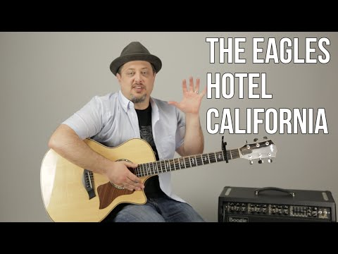 Hotel California The Eagles Easy Acoustic Guitar Lesson + Tutorial