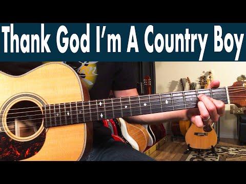 How To Play Thank God I'm A Country Boy On Guitar | John Denver Guitar Lesson + Tutorial