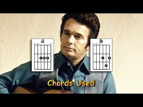 Okie From Muskogee - Merle Haggard - Acoustic Guitar Lesson (easy - no key change)