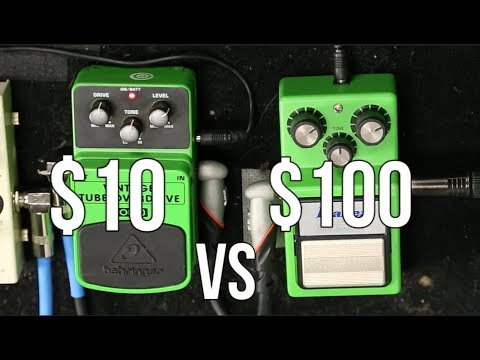 Cheap Pedals: $10 pedal vs $100 pedal - Can you Hear the Difference?