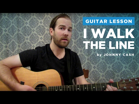 """How to play """"I Walk The Line"""" by Johnny Cash (Guitar Chords & Lesson)"""