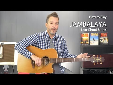 Jambalaya by Hank Williams Two-chord Series Easy Guitar Lesson
