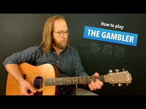 🎸 The Gambler • easy guitar lesson w/ no capo (Kenny Rogers)