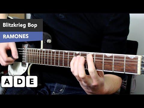 EASY 3 Chord Punk Guitar Song - Blitzkrieg Bop Guitar Lesson - The Ramones