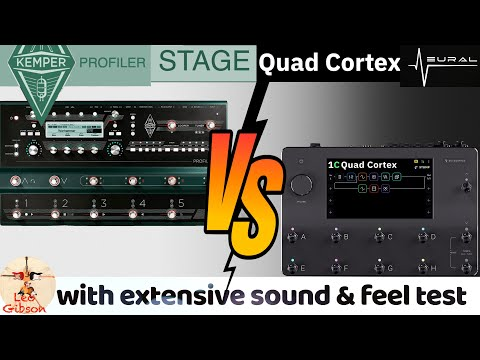 Neural DSP Quad Cortex vs Kemper Stage (extensive sound/ feel test and detailed comparison chart!)