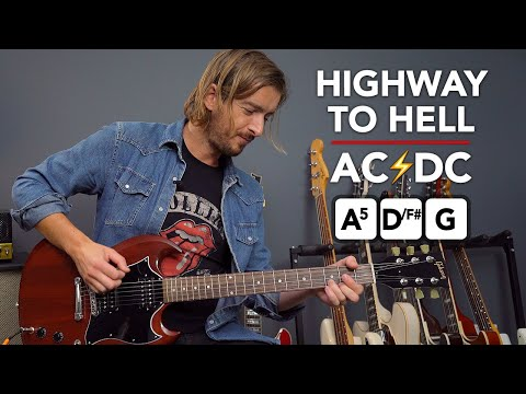 AC/DC - HIGHWAY TO HELL Guitar Lesson Tutorial