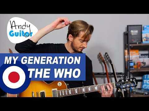 The Who - My Generation Guitar Lesson/ Tutorial - Easy Rock Songs On Guitar