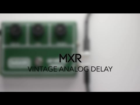 MXR M-118 Vintage Analog Delay Guitar Effects Pedal Demo