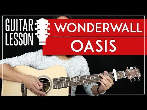 Wonderwall Guitar Tutorial - Oasis Guitar Lesson 🎸 |Easy Chords + Guitar Cover|