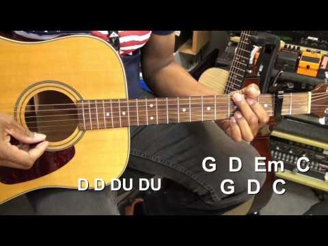 EASY Old Crow Medicine Show WAGON WHEEL Easy Country Guitar Lesson @EricBlackmonGuitar