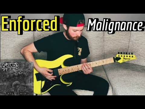 Enforced - Malignance (Guitar Cover w/ Tabs & Backing Track)