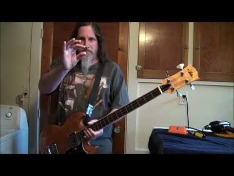 Repositioning The Strap Button On An SG-Shaped Bass Guitar