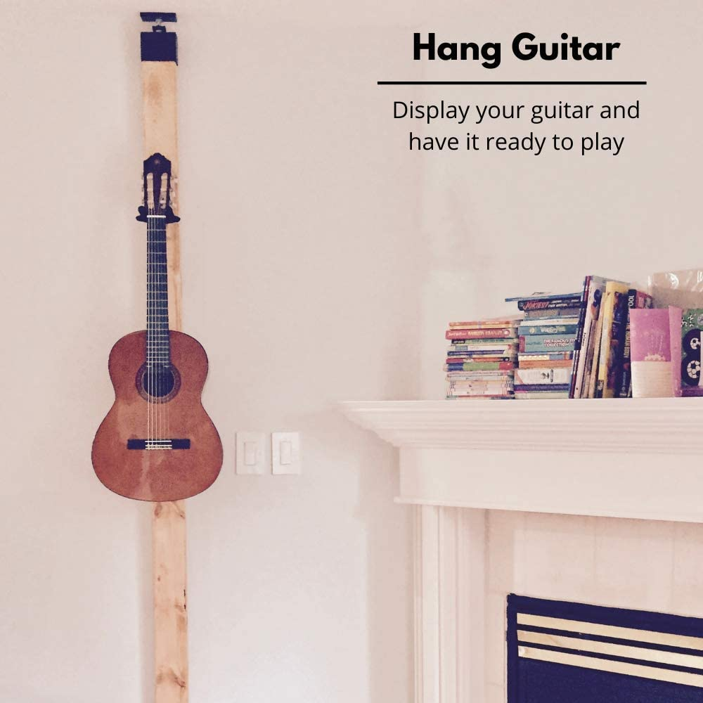 How to hang a guitar on the wall without drilling/no screws