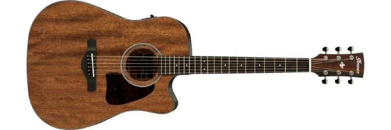 Low Action Acoustic Guitar - Ibanez AW54CEOPN