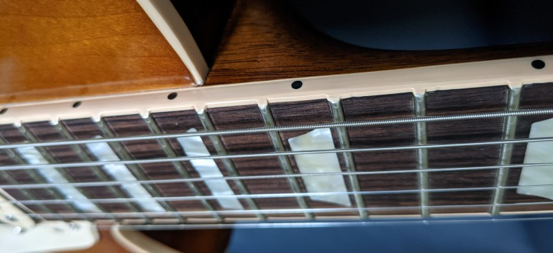 How To Spot A Fake Gibson Les Paul - Fretboard Binding